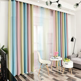"Stripe Blackout for Bedroom Chiffon Curtain Size - W 40"" x H 51.2"""