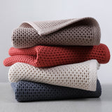 "Set of 3. Cotton Hand Waffle Towel Face Care  13"" x 28.5"""