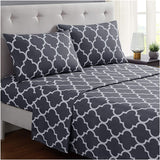 Brushed Microfiber Hypoallergenic 4 pcs Bedsheet Set King Size