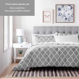 All-Season Quilted Comforter - Corner Duvet Tabs - Hypoallergenic - Plush Microfiber Fill - Machine Washable - Duvet Insert