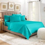 6 Piece Sheets - Deep Pocket Microfiber Hypoallergenic Bedding Set