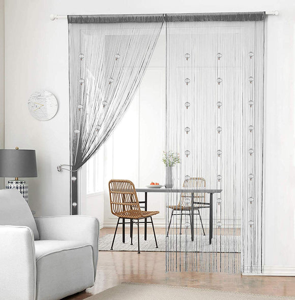 Crystal Beaded Curtain Tassel Curtain - Partition Door Curtain Beaded String Curtain Door Screen Panel Home Decor Divider Crystal Tassel Screen 90x200cm (2 Pack)