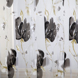 Vines Leaves Tulle Curtain Sheer Valance