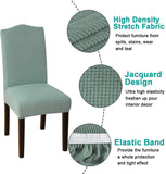 Dining Room Chair Covers Stretch Chair Slipcover Parsons Chair Covers Chair Furniture Protector Covers Removable Washable Chair Cover Set of 2.