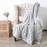 Thickened Double Layer Lamb Down Long Plush Tie dyed Brushed PV Fleece Blanket home garden warm blanket throw blanket beds sofa