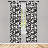 "Leopard Print Window Curtains Leopard Texture Illustration Exotic Fauna Inspired Pattern Lightweight Decorative Panels Set of 2 with Rod Pocket 56"" x 84"""