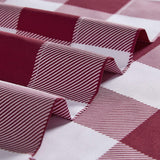 Checkered Burgundy