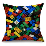 Lego Square Pillow Case Reversible Sequin Glitter Sofa Waist Throw Cushion Cover / Lego