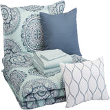 10-Piece Comforter Bedding Set Microfiber Ultra-Soft