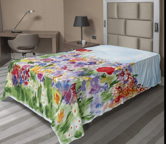 Watercolor Flower Flat Sheet