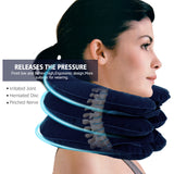 U Neck Pillow Air Inflatable Pillow Cervical Brace Neck Shoulder Pain Relax Support Massager Pillow Air Cushion Traction Soft