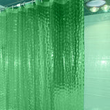 Waterproof 3D Shower Curtain With 12 Hooks