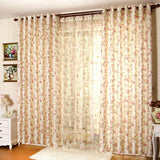Flower Garden Embroidery Cashmere Bedroom Living Room Curtains