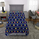 Twin Super Mario 3-Piece Bed Sheet Set.1 Flat Sheet, 1 Fitted Sheet, 1 Pillow Cases