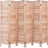 4 Panel 5.6 Ft Tall Wood Room Divider, Partition Wall