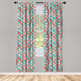 "Leopard Print Window Curtains Leopard Texture Illustration Exotic Fauna Inspired Pattern Lightweight Decorative Panels Set of 2 with Rod Pocket 56"" x 95"""