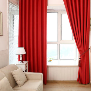 Blackout Cloth Insulation Curtain Living Room Bedroom 40 * 85""
