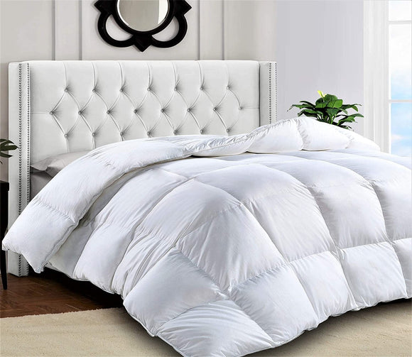 Premium Quality Heavy Quilted Comforter - Duvet Insert - Stand Alone Comforter - with Corner Tabs -Hypoallergenic -Plush Microfiber Fill