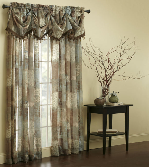 Madagascar Sheer T-Panel Drapes 84 Inch