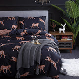 Duvet Cover Leopard Printing Bedding Set