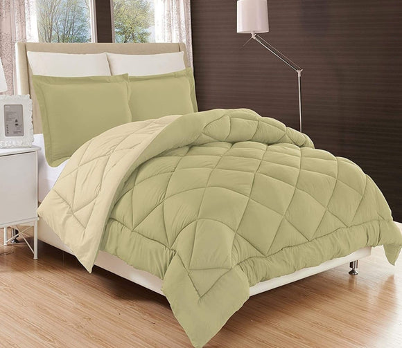 Elegant Comfort All Season Comforter Medium Weight Super Soft Down Alternative Reversible 3-Piece Comforter Set