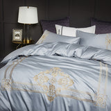 Floral Soft Comfortable Bamboo Fiber Duvet Cover Bedding Set