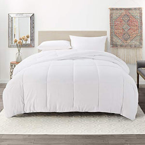 Bedding Down Alternative Comforter - Quilted Comforter - Hypoallergenic - Duvet Insert, White