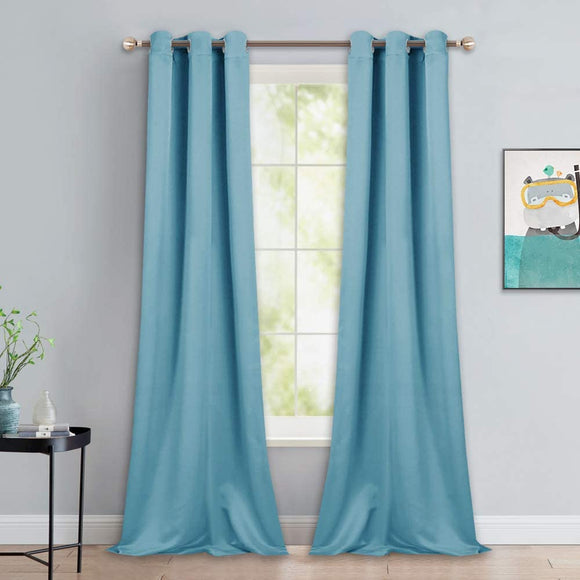Light Blocking Curtain Soft Fabric 1 Pair