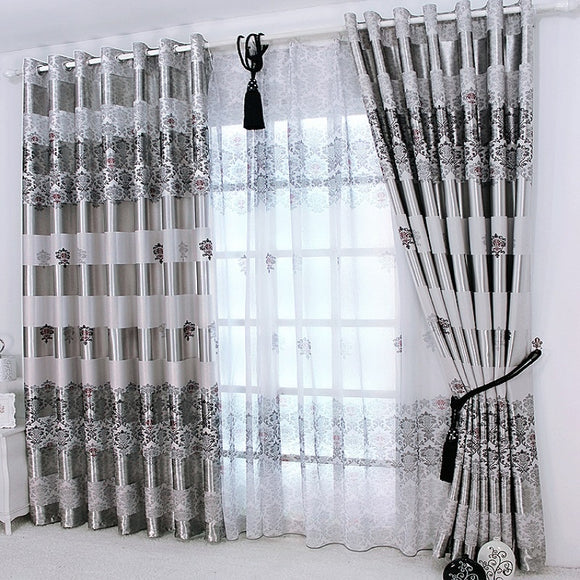 Curtains Drapes Modern Elegant Noble Printing Shade  Valance