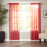Luxury Sheer Curtains, Window Treatment Panels with Rod Pocket for Kitchen, Bedroom and Living Room Set of 2