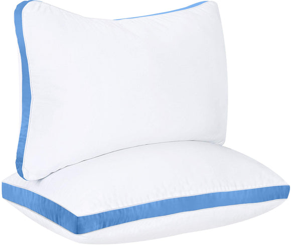 Bedding Gusseted Pillow (2-Pack) Premium Quality - Side Back Sleepers