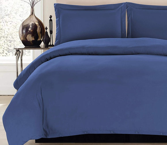 Duvet Cover Set, 1800 Count Egyptian Cotton, 3 Piece Luxury Soft, 2 Pillow Shams. King Size