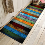 Flannel Entrance Rug Strong Water Absorb Decorative Carpet Anti Skid Trapper