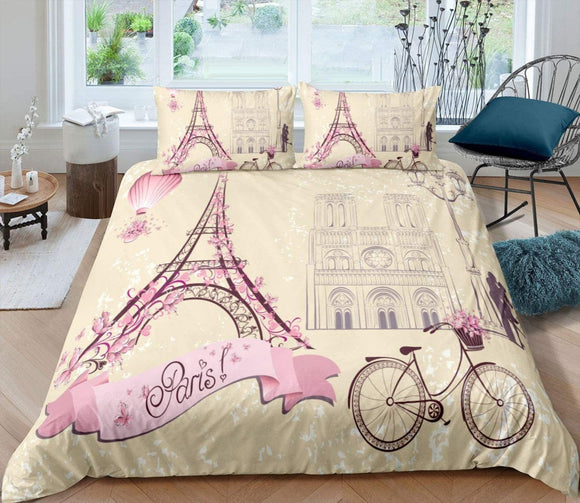 Duvet Cover Set Soft London Themed Comforter Cover Set 3 Pieces