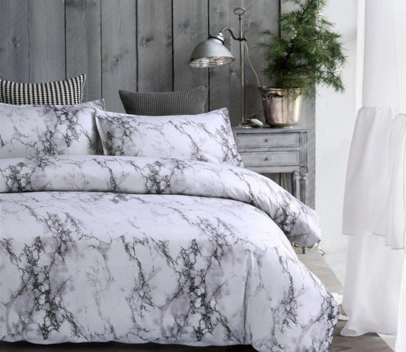 Marble Duvet Bedding Set