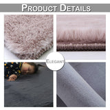 Fluffy Rug Large Area Mat Faux Fur Rug