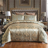 Duvet Cover Satin Bed Cover Gold Color Double Bedding Set