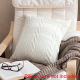 Set of 2. V shaped Wool Knit Pillowcase Household Accessories Cushion Cover Photography Props without Pillow Core