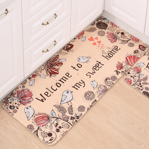 Home Entrance Flannel Doormat Modern Kitchen Mat Bath Carpet Floor Mat