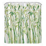"Shower Curtain Waterproof Polyester 3D Bamboo  71"" x 71"""