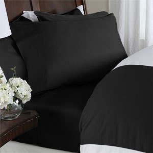 Elegant Comfort Luxurious 1500 Thread Count Three Line Embroidered Softest Premium 4-Piece Bed Sheet Set, Wrinkle and Fade Resistant