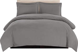 Collection Duvet Cover Set, 1800 Count Egyptian Cotton, 3 Piece Luxury Soft, 2 Pillow Shams