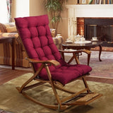 Solid Universal Recliner Rocking Chair Mat Soft Back Cushion