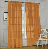 Elegant Comfort 2-Piece Sheer Panel with 2inch Rod Pocket - Window Curtains