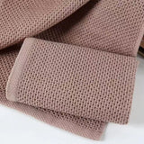 "3 pcs set Cotton Hand Face Waffel Towel Plaid Face Care 14"" x 14 """