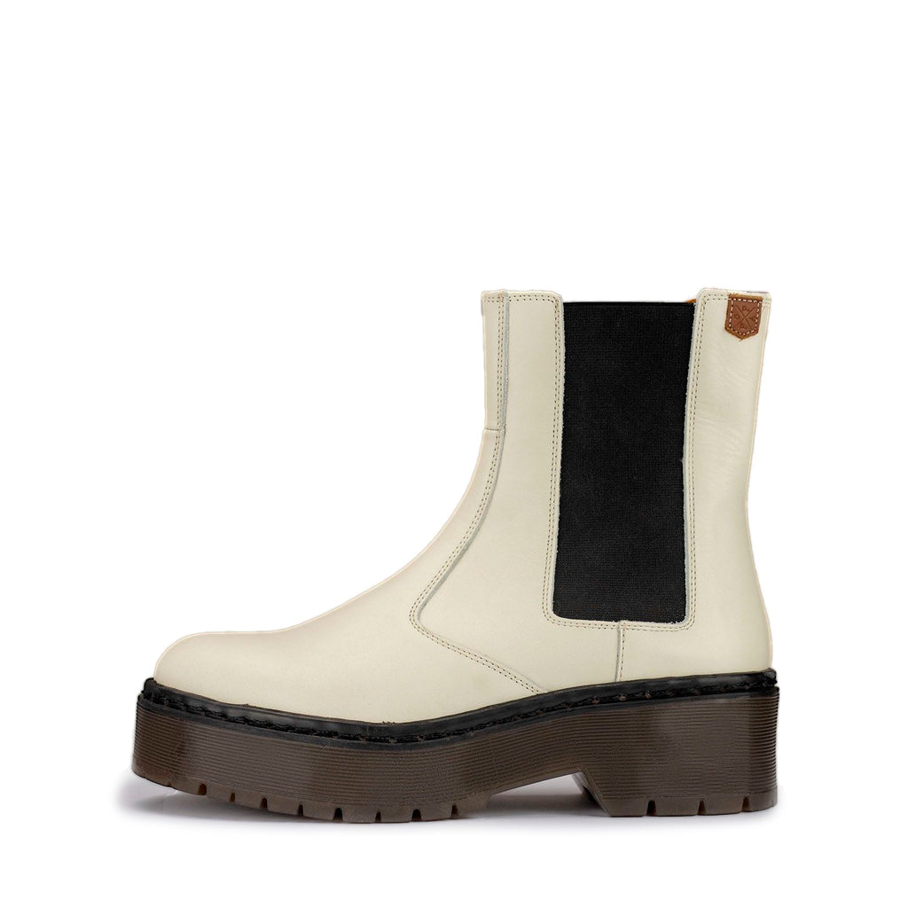 POPA Chelsea White Boots