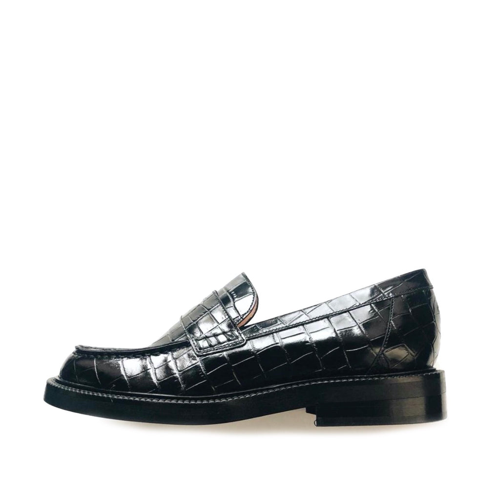 INCH2 CROCO LOAFERS