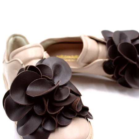 POKEMAOKE Petals Pattern Loafers