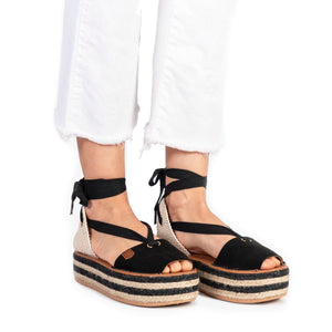 POPA Black Ankle Sandals