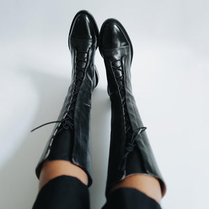 INCH2 HIGH LEATHER BROGUE BOOTS